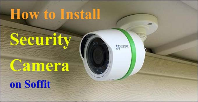 how to run security camera wires through soffit