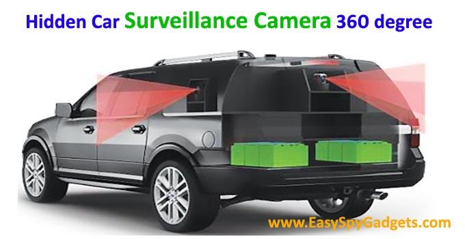 hidden car surveillance camera 360 degree