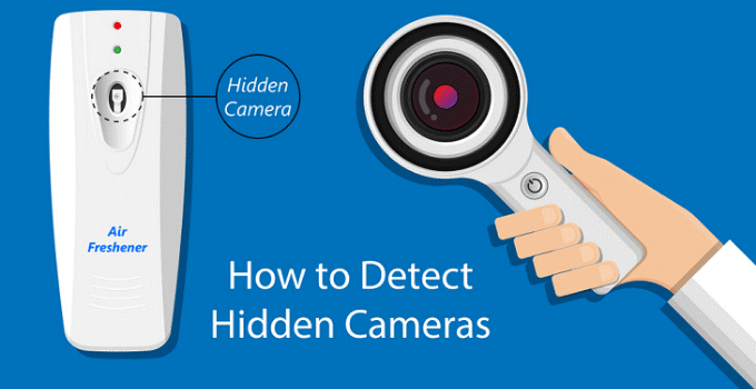 How to detect hidden camera with mobile phone